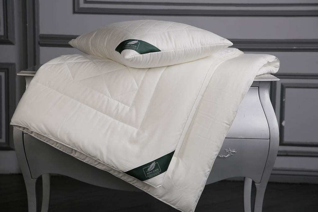 Купить Одеяла ANNA FLAUM, Одеяло Bamboo Всесезонное (200х220 см), Германия, Белый, Хлопковый сатин