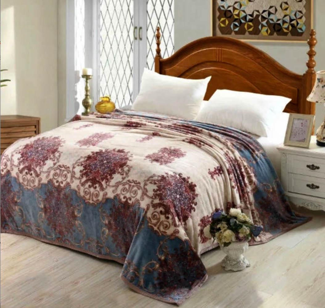 Купить Пледы и покрывала Tango, Плед Tiffiny (200х220 см), Китай, Бордовый, Синий, Синтетическая фланель