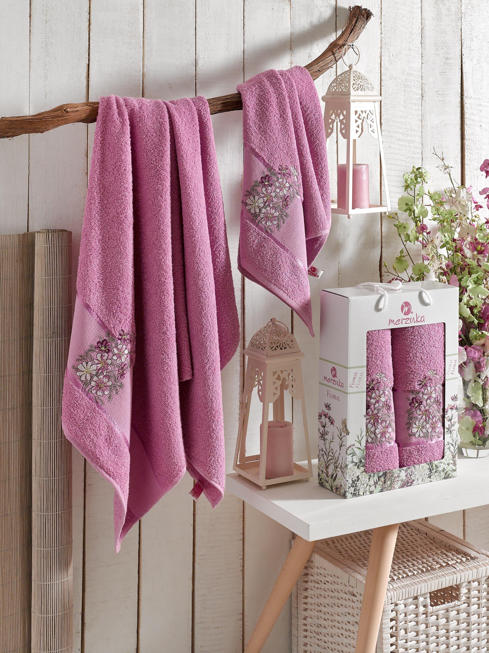 Полотенца Oran Merzuka Полотенце Floral Цвет: Светло-Лиловый (50х80 см,70х130 см) полотенца oran merzuka полотенце sakura цвет светло лиловый набор