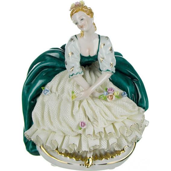Статуэтки и фигурки Lefard Статуэтка Девушка с Цветами (17 см) статуэтка lefard дети 9х5х12см фарфор в ассорт