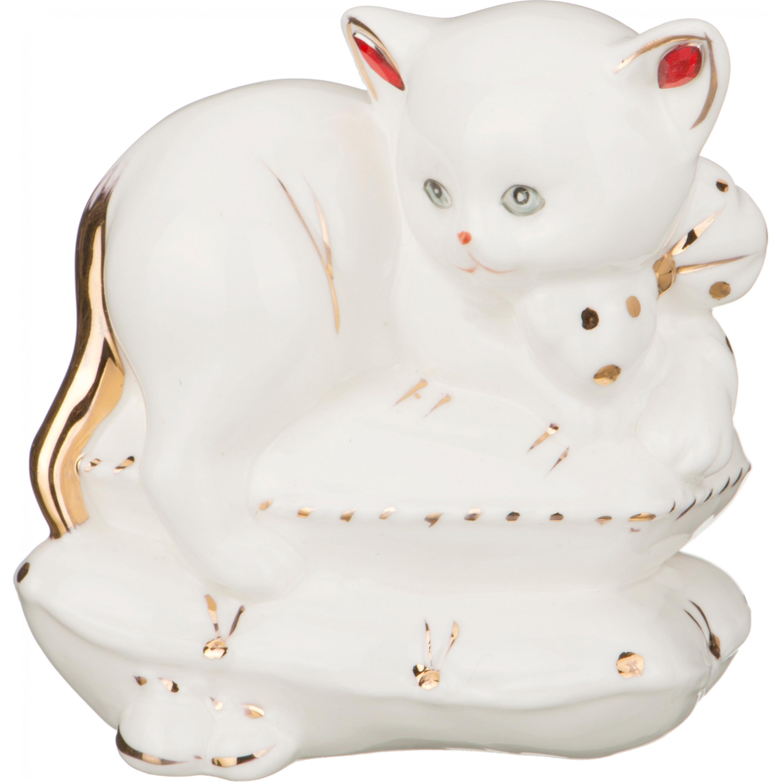 Купить Статуэтки и фигурки Lefard, Фигурка Кошка (7х9х10 см), Китай, Белый, Фарфор