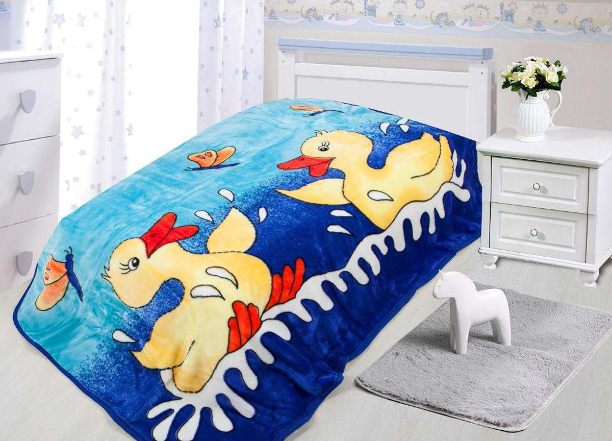 Купить Покрывала, подушки, одеяла для малышей Tamerlan, Детский плед Утята (110х140 см), Китай, Желтый, Синий, Коралловый флис