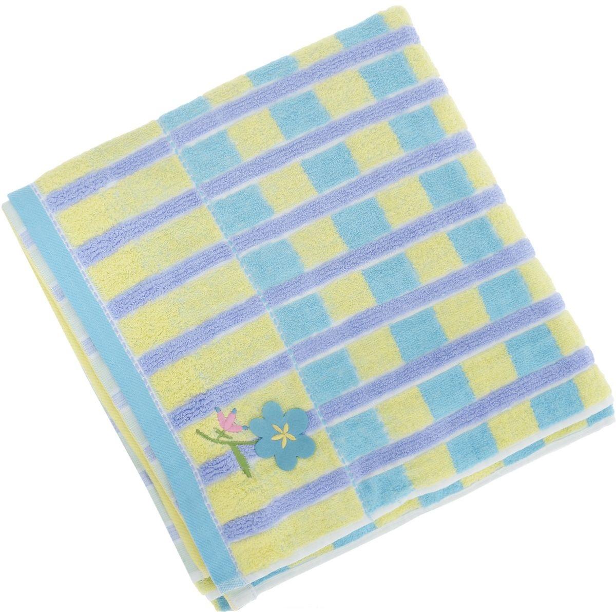 Купить Полотенца Soavita, Полотенце Linda Цвет: Светло-Голубой (70х140 см), Китай, Голубой, Желтый, Махра