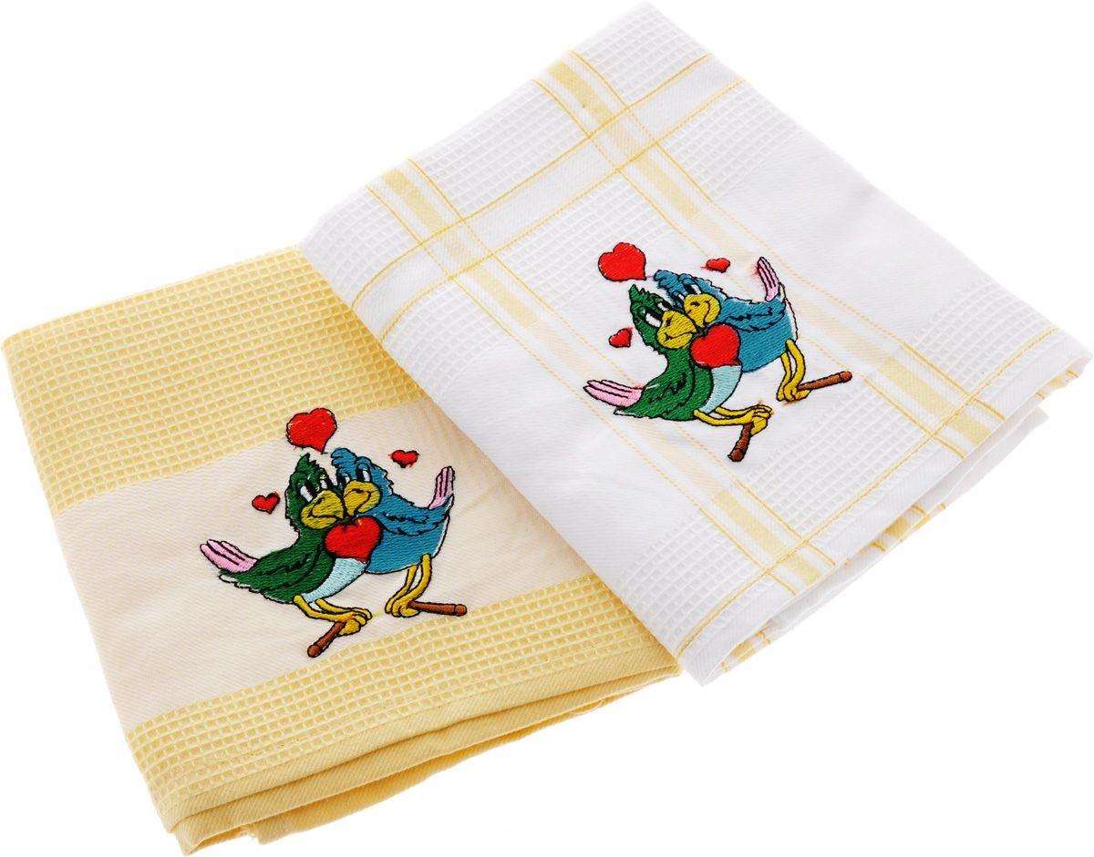 Полотенца Soavita Кухонное полотенце Подарочное Цвет: Зеленый-Желтый (45х70 см - 4 шт) полотенца soavita полотенце sandra цвет желтый 50х90 см