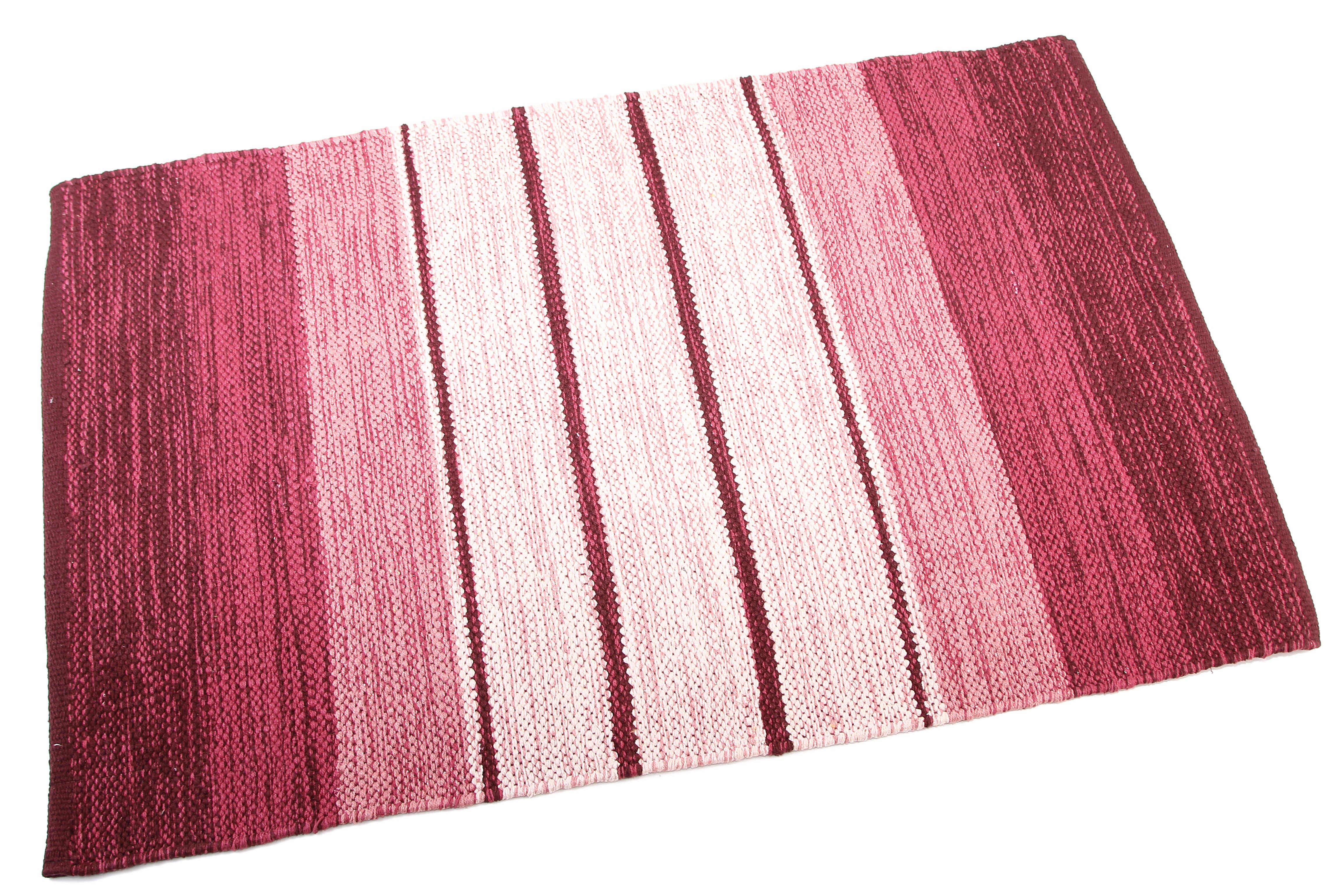 Купить Ковры и ковровые дорожки Ганг, Ковер Donough Цвет: Бордовый (60х150 см), Индия, Рогожка