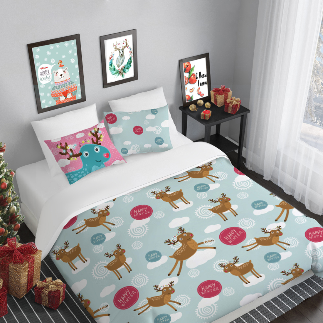Комплекты постельного белья Peach Постельное белье Winter Wonderland (1,5 спал.) winter wonderland patterns