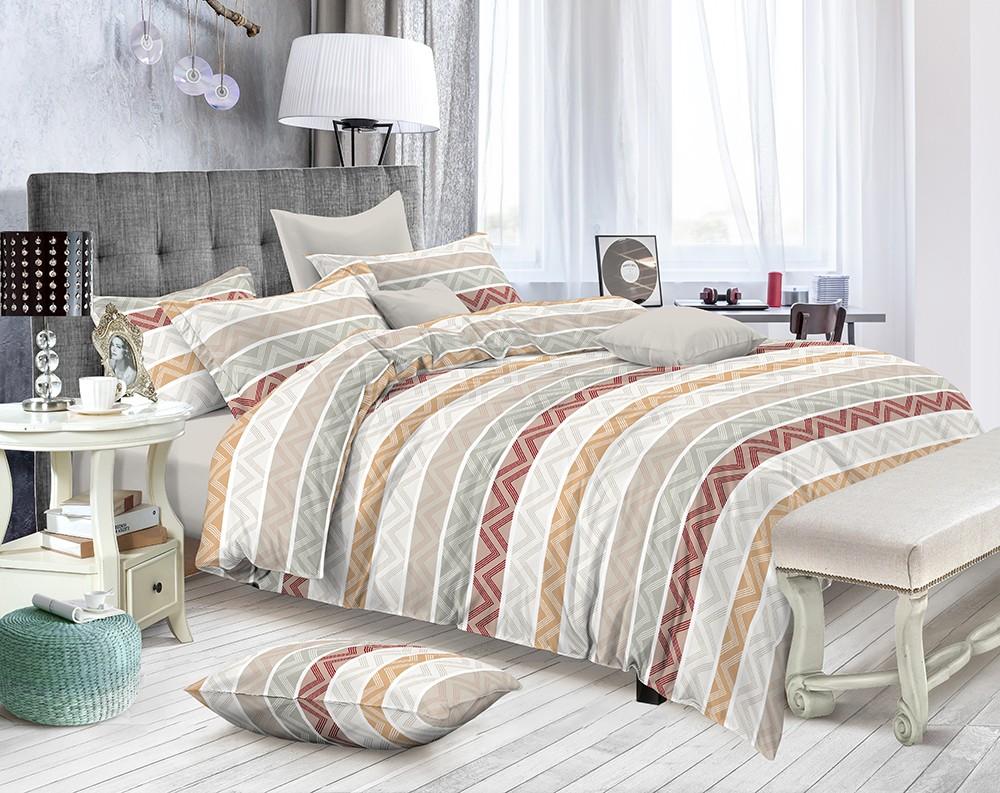Постельное белье Tristana Цвет: Серый, Бежевый (2 спал.) фото