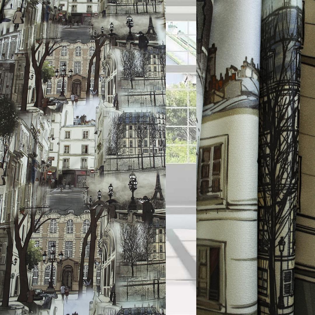Классические шторы Veronica Цвет: Коричневый, Серый, Чёрный