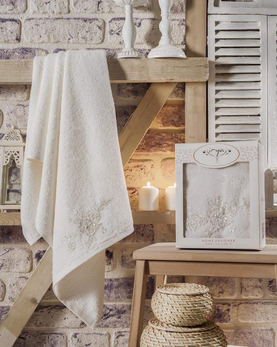 Купить Полотенца IRYA, Полотенце Actuel Цвет: Молочный (70х140 см), Турция, Бежевый, Махра