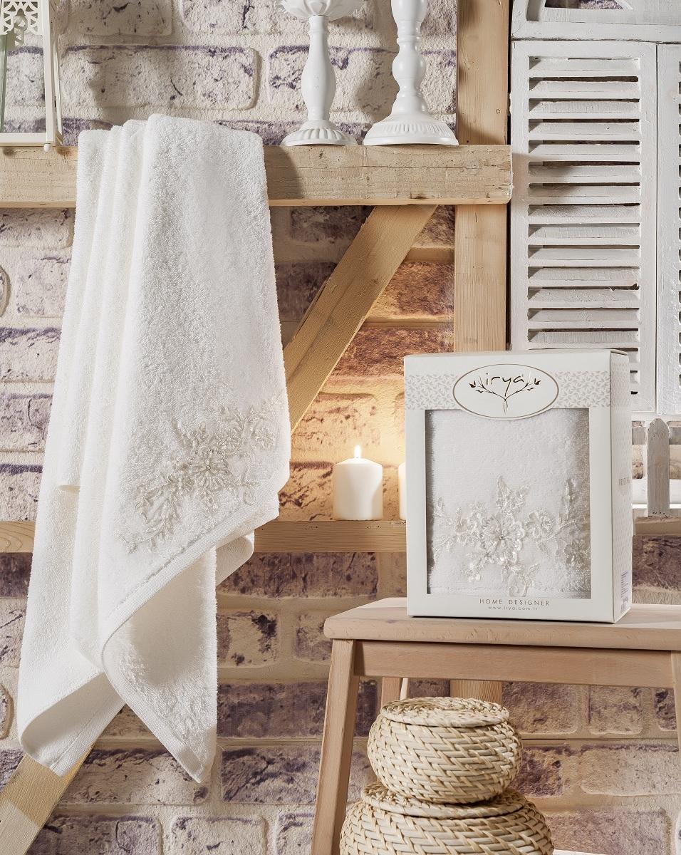 Купить Полотенца IRYA, Полотенце Actuel Цвет: Молочный (85х150 см), Турция, Бежевый, Махра