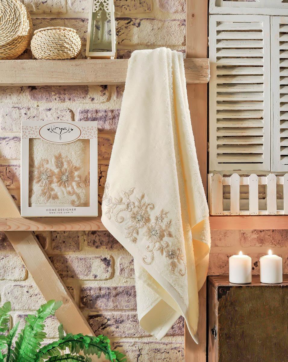 Купить Полотенца IRYA, Полотенце Beloved Цвет: Кремовый (70х130 см), Турция, Махра