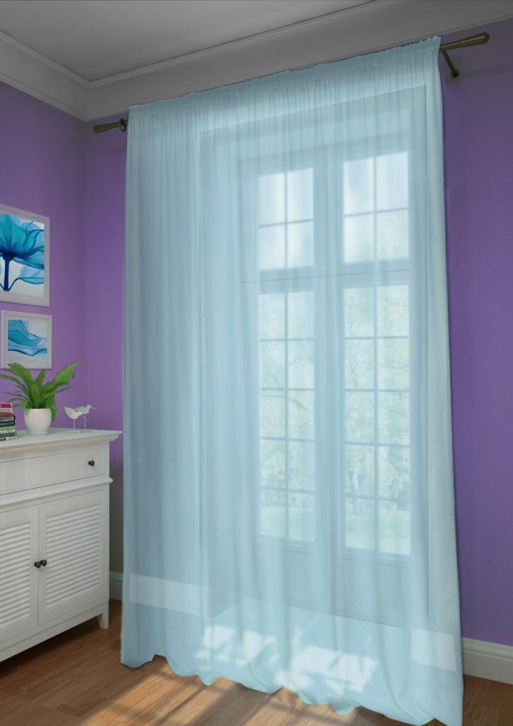 Шторы Kauffort Классические шторы Basicos-XL Цвет: Голубой шторы kauffort классические шторы macadi xl цвет голубой