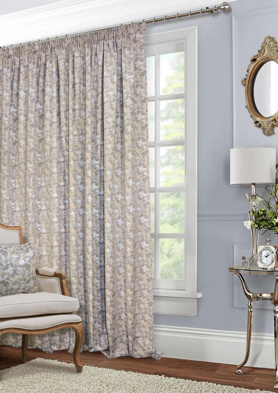 Классические шторы Shyanne Цвет: Натуральный, Серый фото