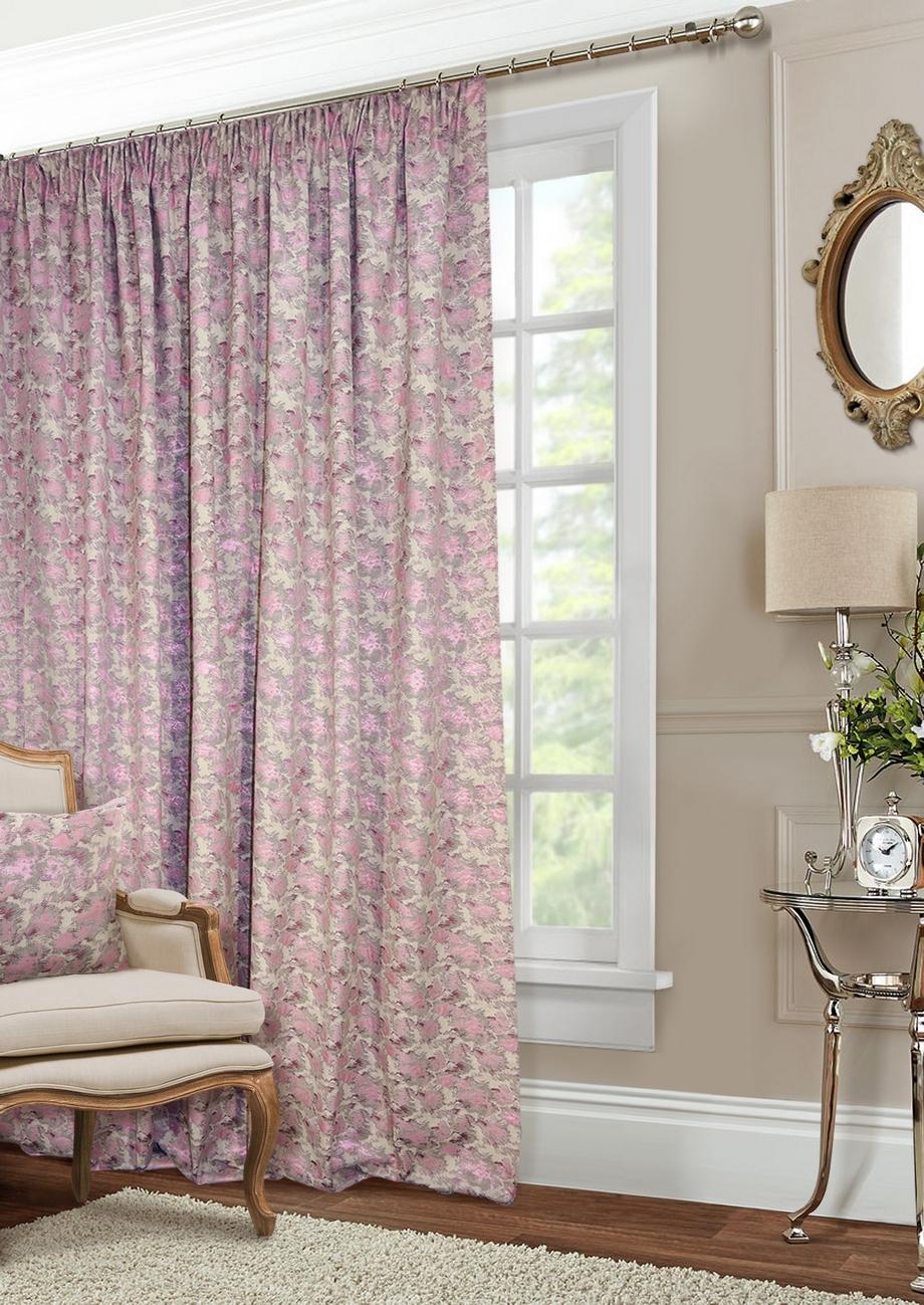Классические шторы Shyanne Цвет: Натуральный, Сиреневый фото