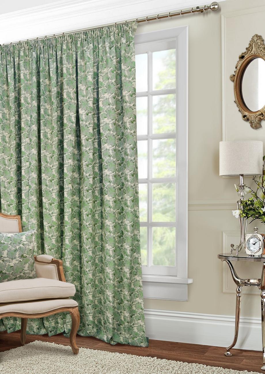 Классические шторы Shyanne Цвет: Натуральный, Зеленый фото