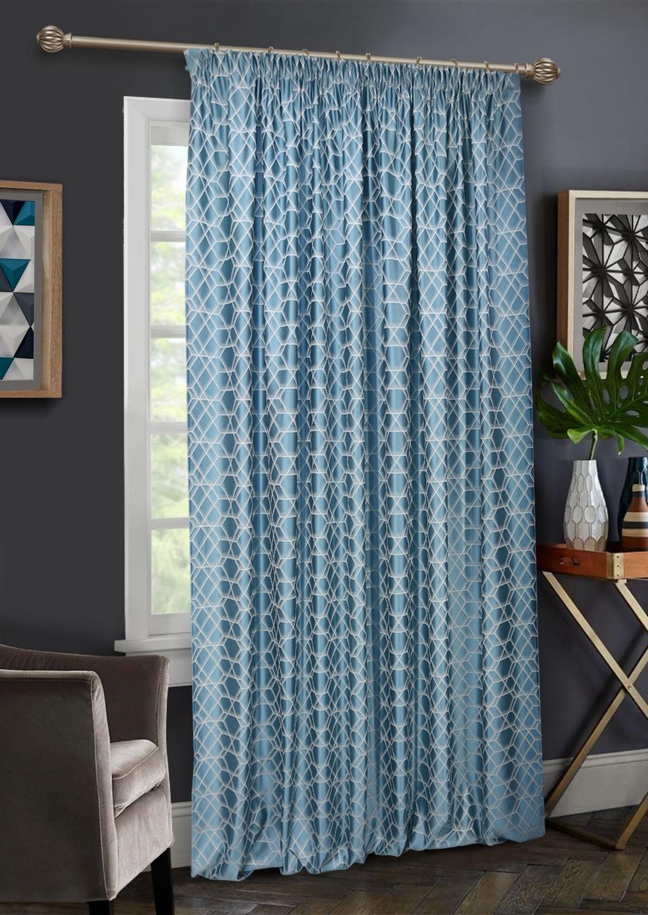 Шторы Kauffort Классические шторы Almaz Цвет: Голубой шторы kauffort классические шторы macadi xl цвет голубой