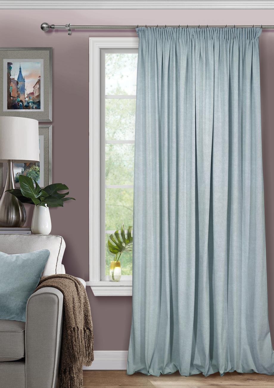 Шторы Kauffort Классические шторы Pudra Цвет: Серо-Голубой шторы kauffort классические шторы macadi xl цвет голубой