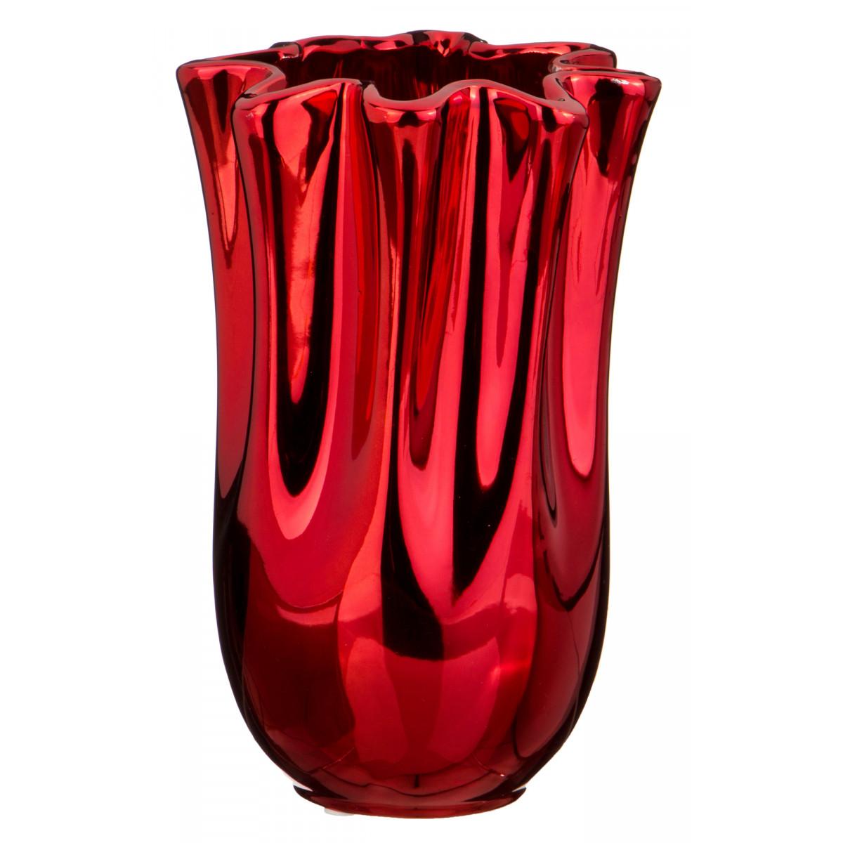 Купить Вазы Lefard, Ваза Adriannah (14х14х22 см), Китай, Красный, Керамика