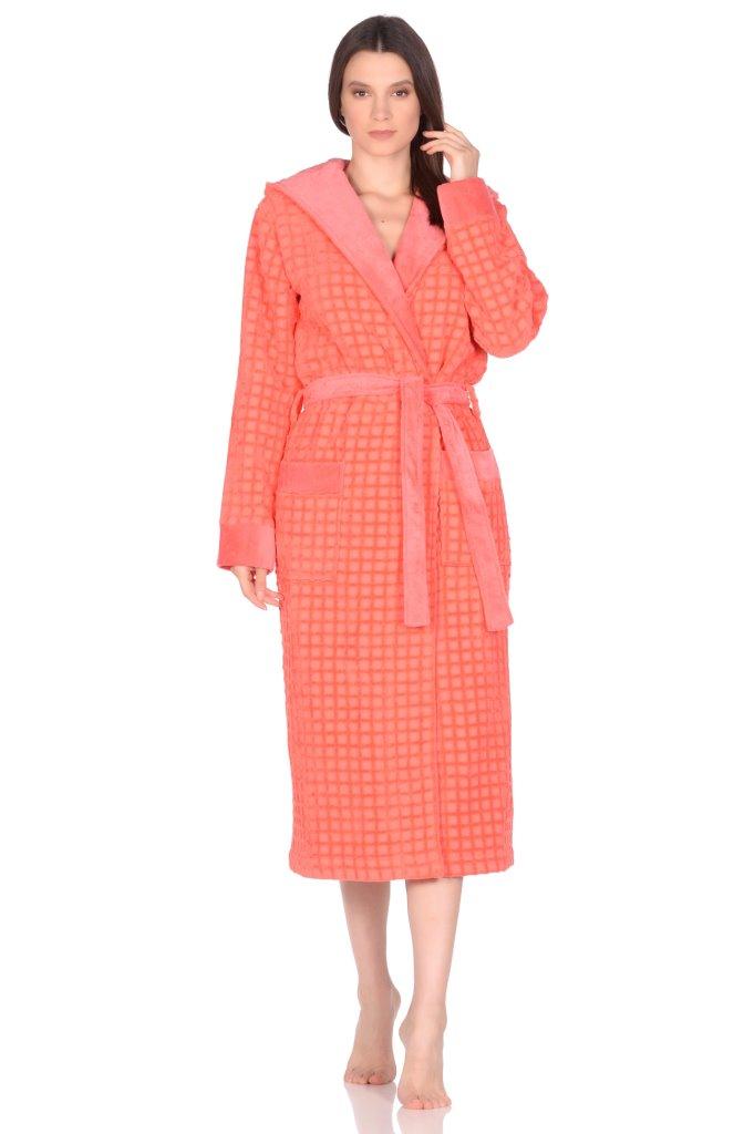 Домашний халат Tracey Цвет: Коралловый (50-52) Peche Monnaie pmn676309
