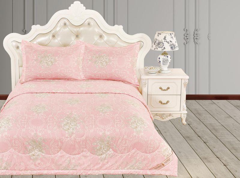 Купить Комплекты постельного белья KAZANOV.A, Постельное белье Пандора Цвет: Розовый (2 сп. евро), Китай, Вискозный сатин