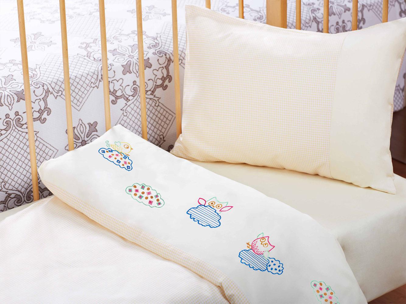 Купить Детское постельное белье Primavelle, Детское Постельное белье Birds Цвет: Бежевый (115х145 см), Россия, Бязь