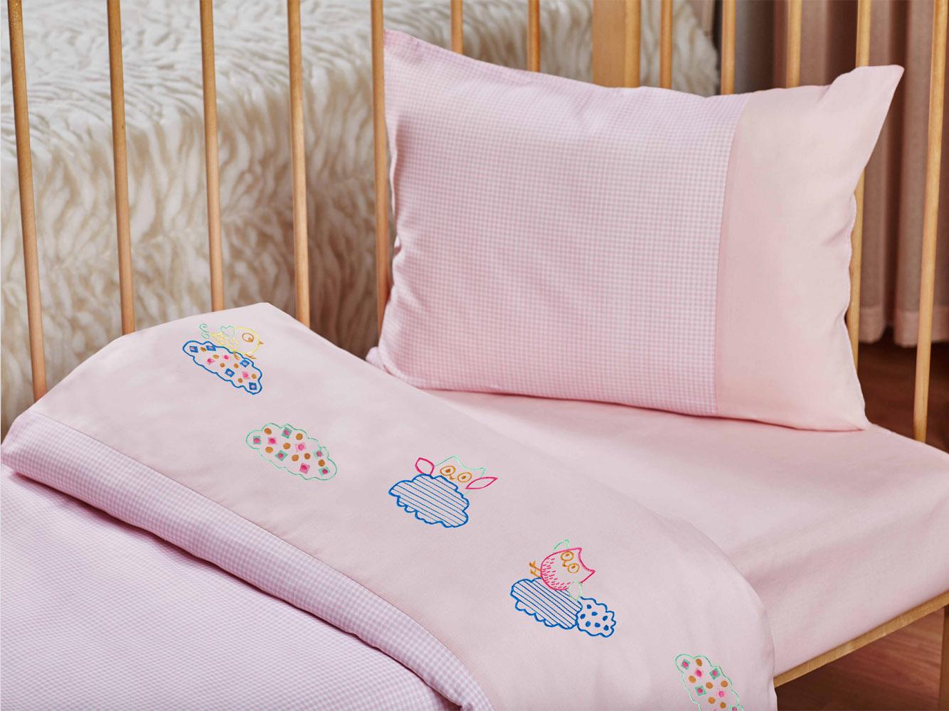 Купить Детское постельное белье Primavelle, Детское Постельное белье Orhidea Цвет: Розовый (115х145 см), Россия, Бязь