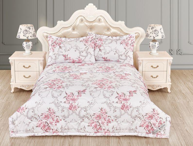 Купить Комплекты постельного белья KAZANOV.A, Постельное белье Амадеус Цвет: Белый, Розовый (2 сп. евро), Китай, Вискозный сатин