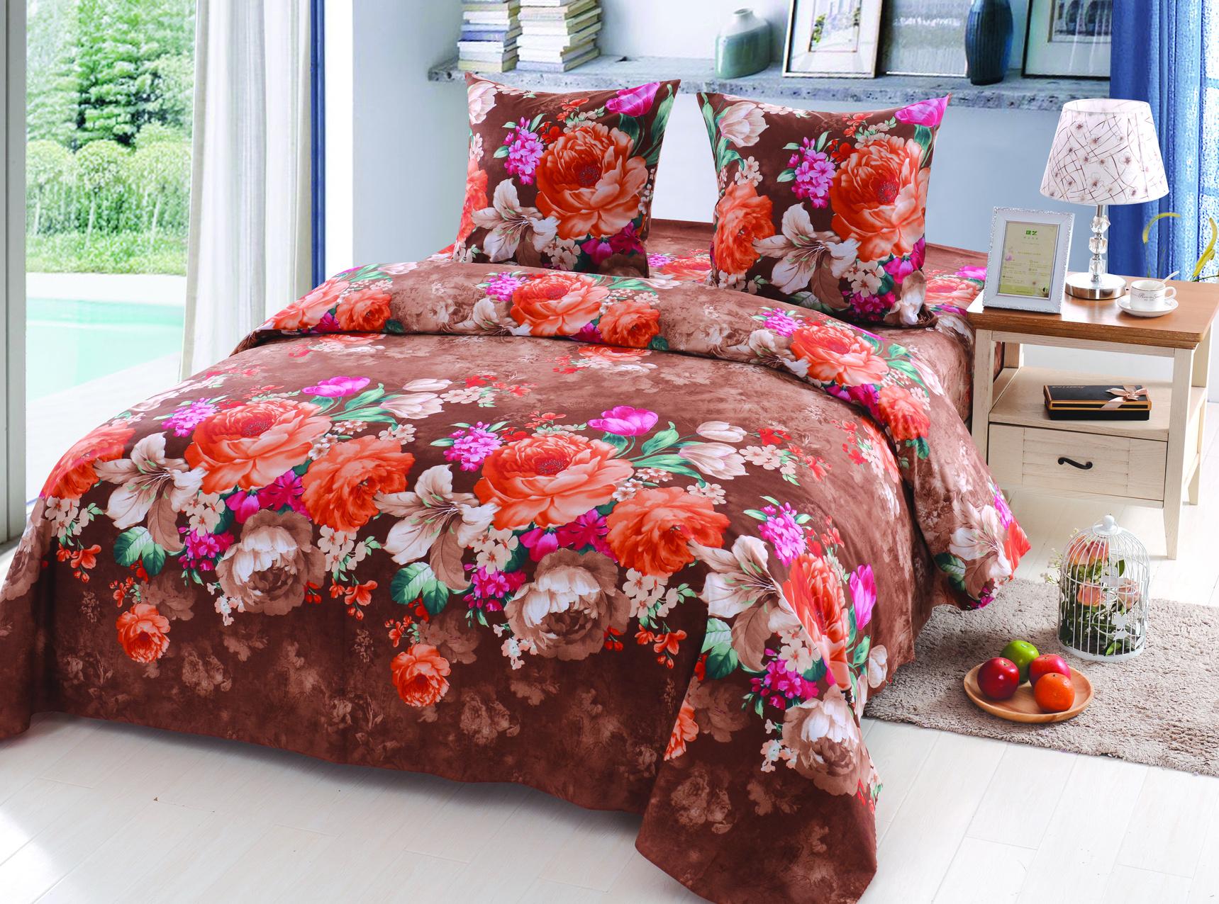 Купить Комплекты постельного белья Amore Mio, Постельное белье Hayley (2 сп. евро), Россия, Поплин