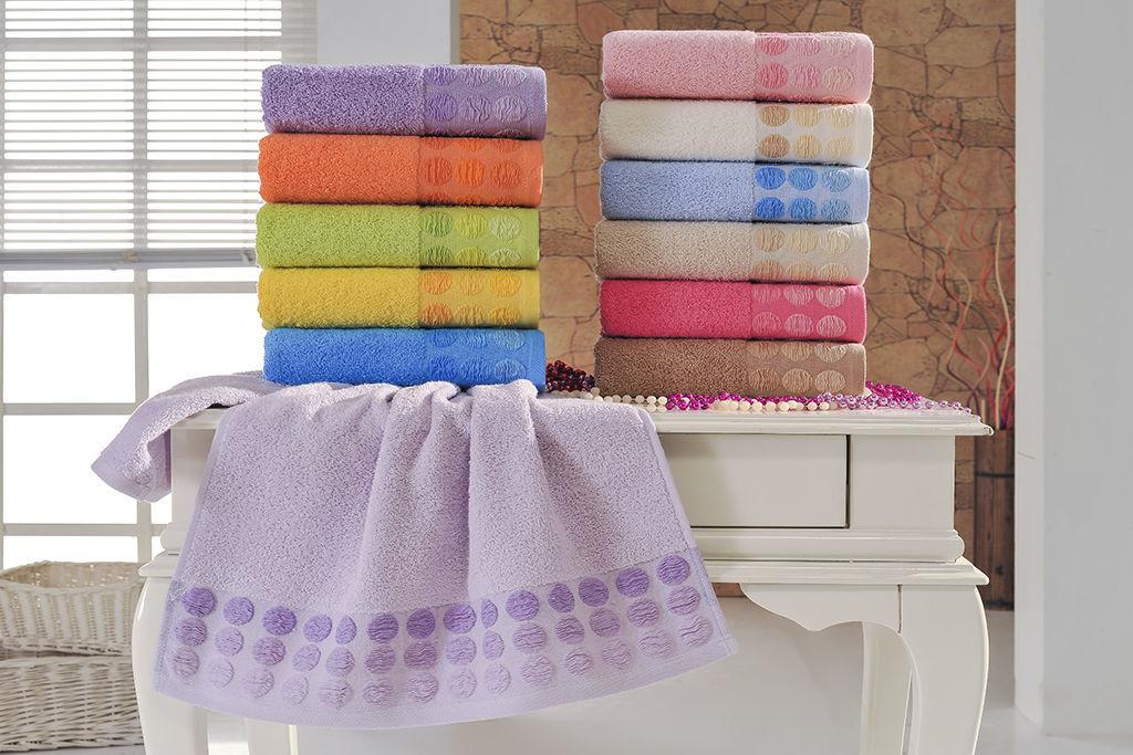 Купить Полотенца Brielle, Полотенце Point Цвет: Розовый (50х90 см), Турция, Махра