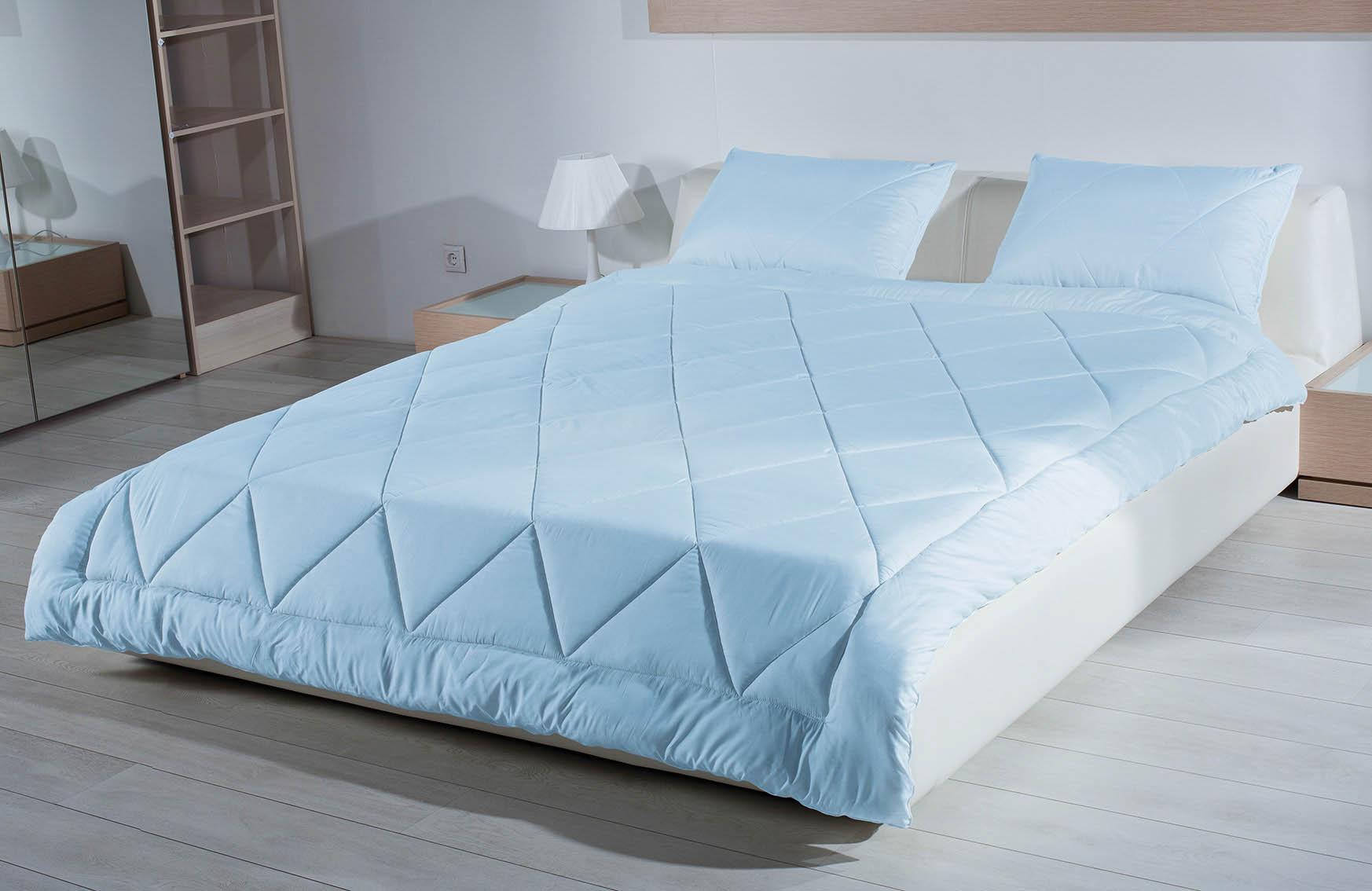 Купить Одеяла Primavelle, Одеяло Cashgora Цвет: Голубой (200х220 см), Россия, Хлопковый сатин