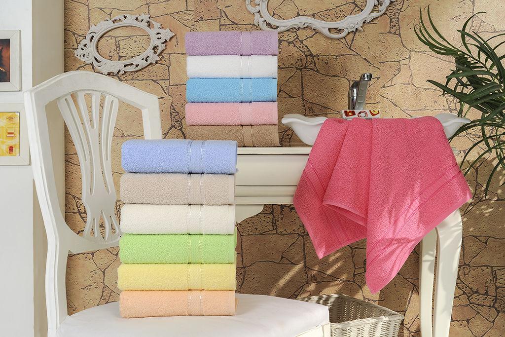 Купить Полотенца Brielle, Полотенце Basic Цвет: Кремовый (70х140 см), Турция, Махра