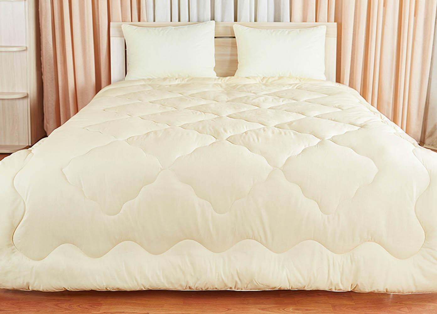 Купить Одеяла Primavelle, Одеяло Лежебока Цвет: Кремовый (200х220 см), Россия, Хлопковый сатин