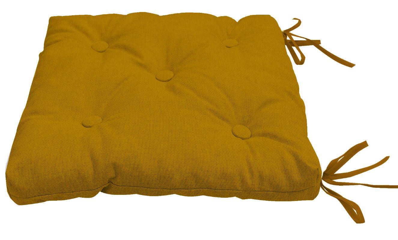 Декоративные подушки Kauffort Подушка на стул Нosta Цвет: Горчичный (40х40)