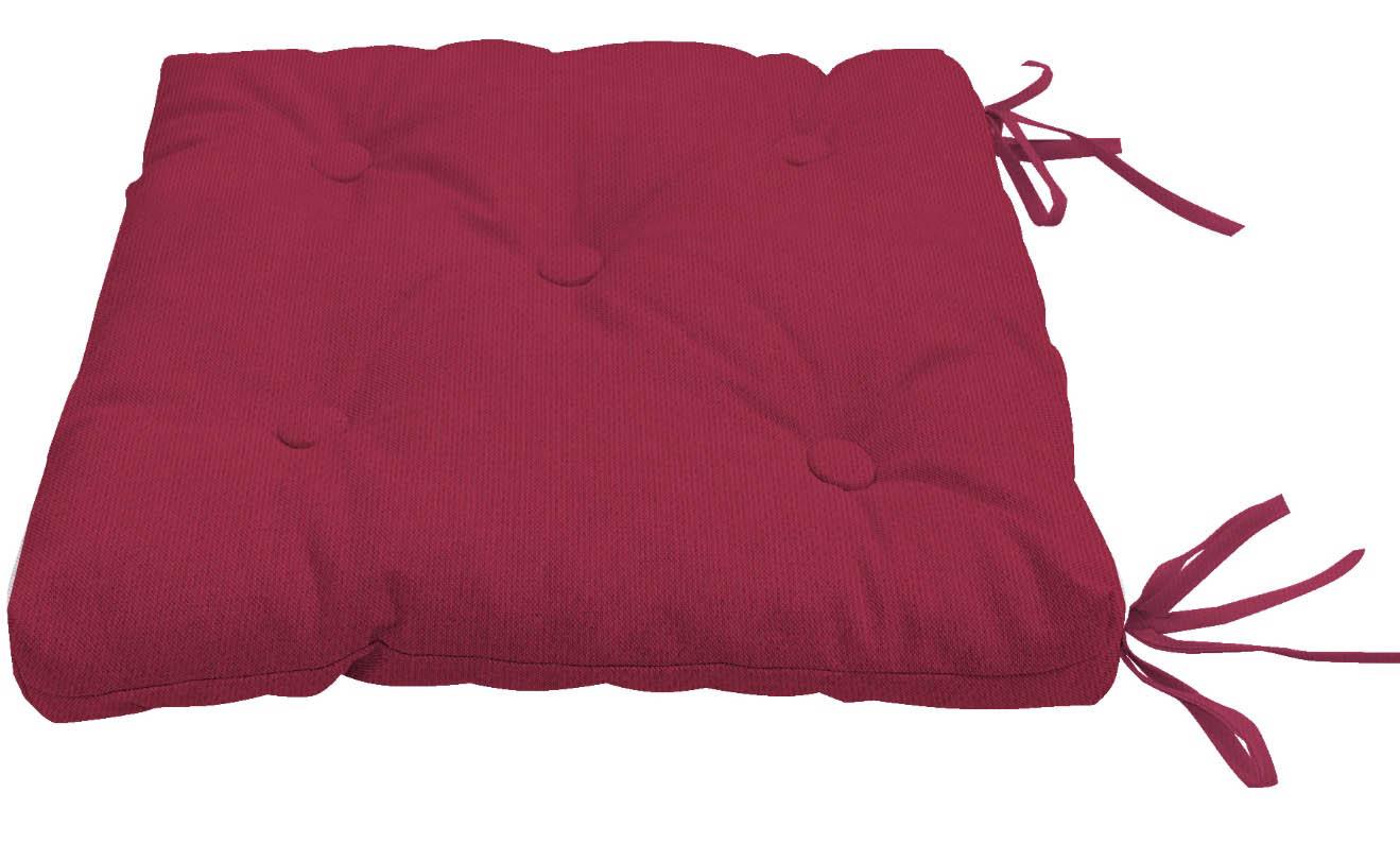 Декоративные подушки Kauffort Подушка на стул Нosta Цвет: Малиновый (40х40)