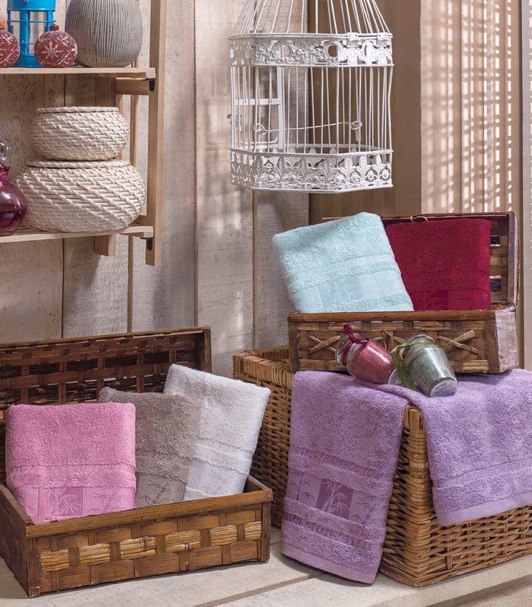 Купить Полотенца Brielle, Полотенце Bamboo Цвет: Кремовый (50х90 см), Турция, Бамбук