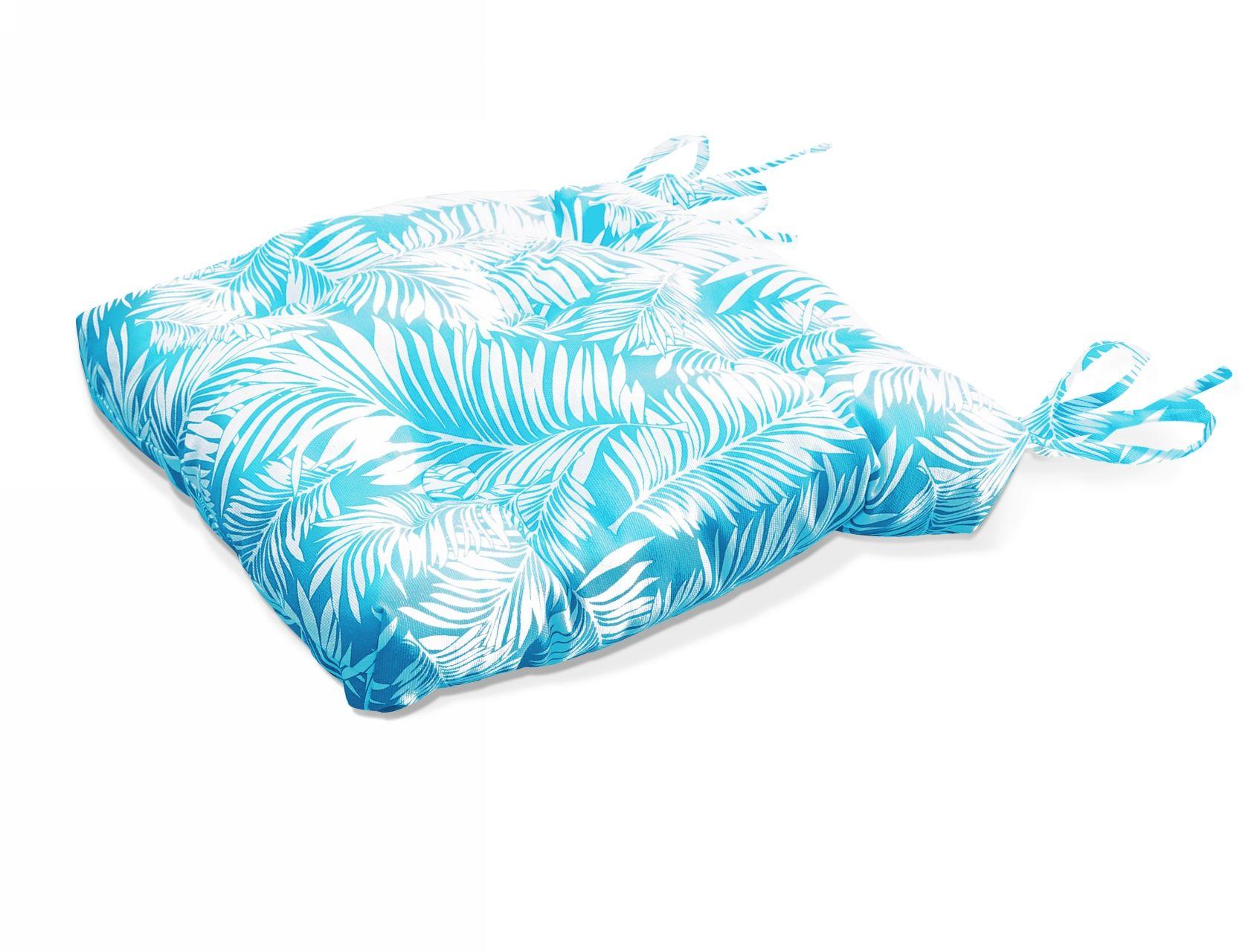 Купить Декоративные подушки Kauffort, Подушка на стул Palma - S Цвет: Небесно-Голубой (50х50), Россия, Белый, Поликоттон