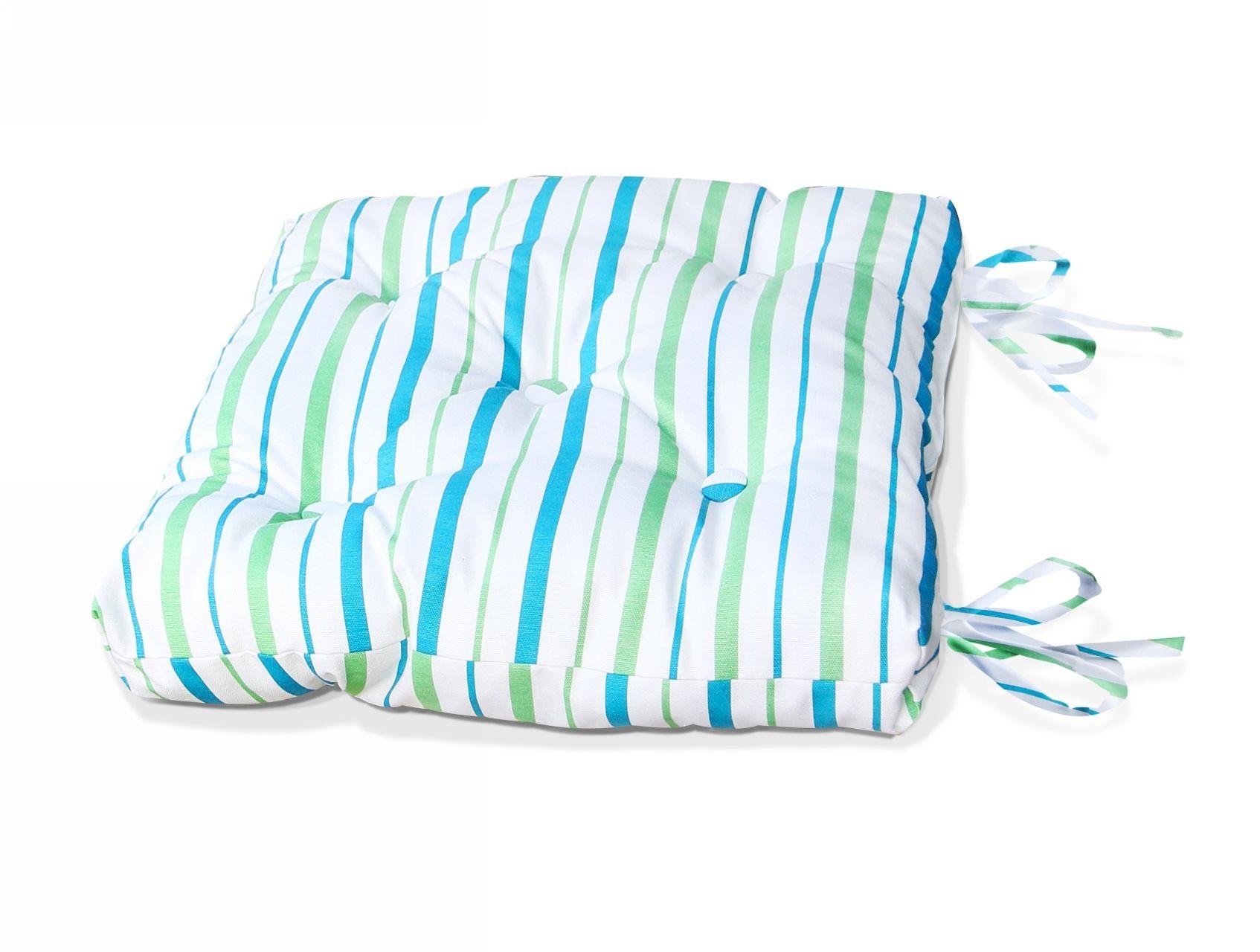 Купить Декоративные подушки Kauffort, Подушка на стул Rain - S Цвет: Небесно-Голубой (50х50), Россия, Голубой, Зеленый, Поликоттон