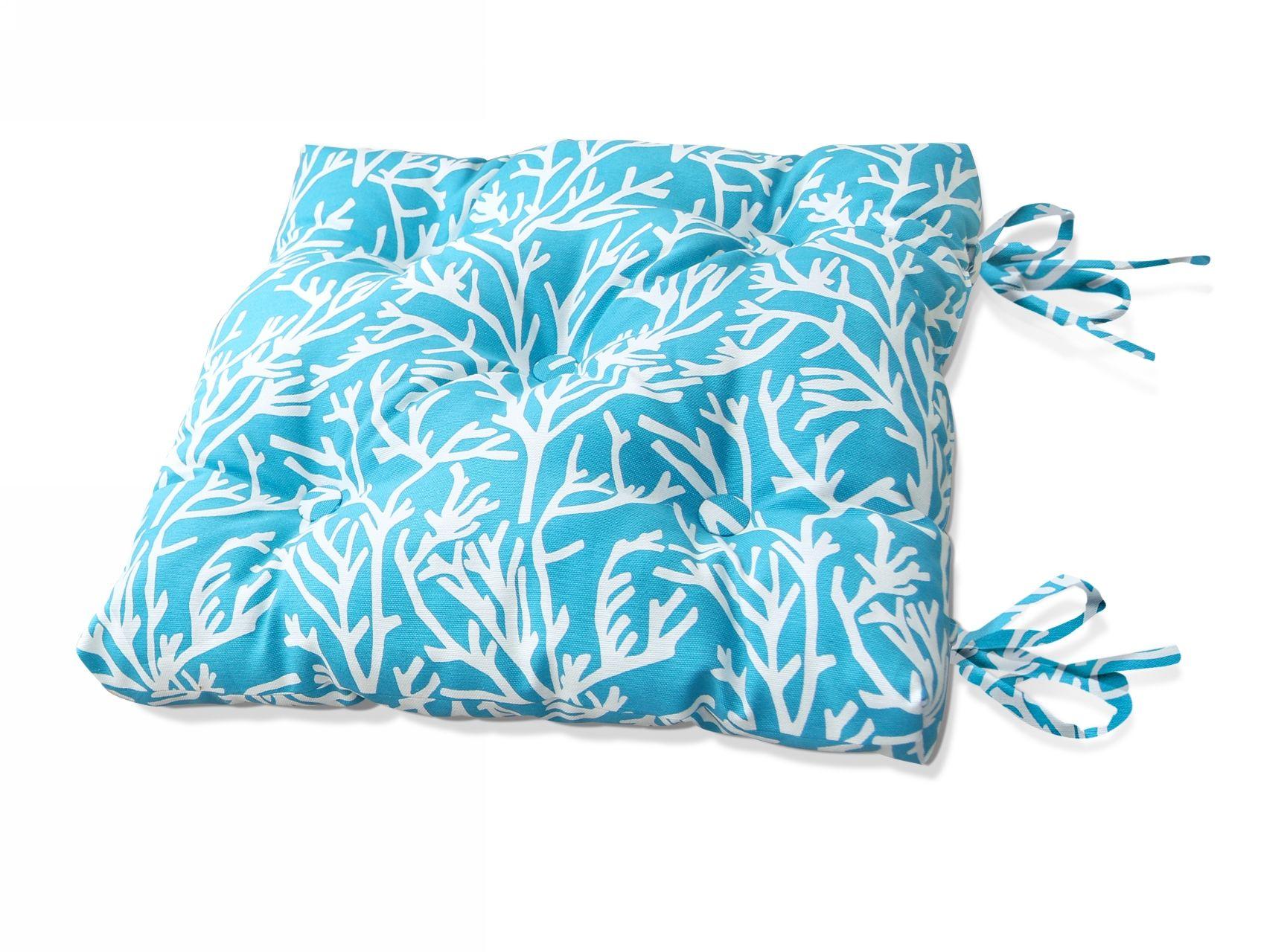 Купить Декоративные подушки Kauffort, Подушка на стул Corals - S Цвет: Небесно-Голубой (50х50), Россия, Поликоттон