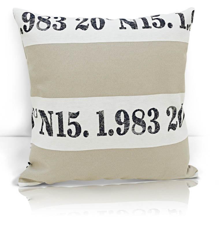 Купить Декоративные подушки Kauffort, Декоративная подушка Brandon (40х40), Россия, Бежевый, Черный, Синтетический жаккард