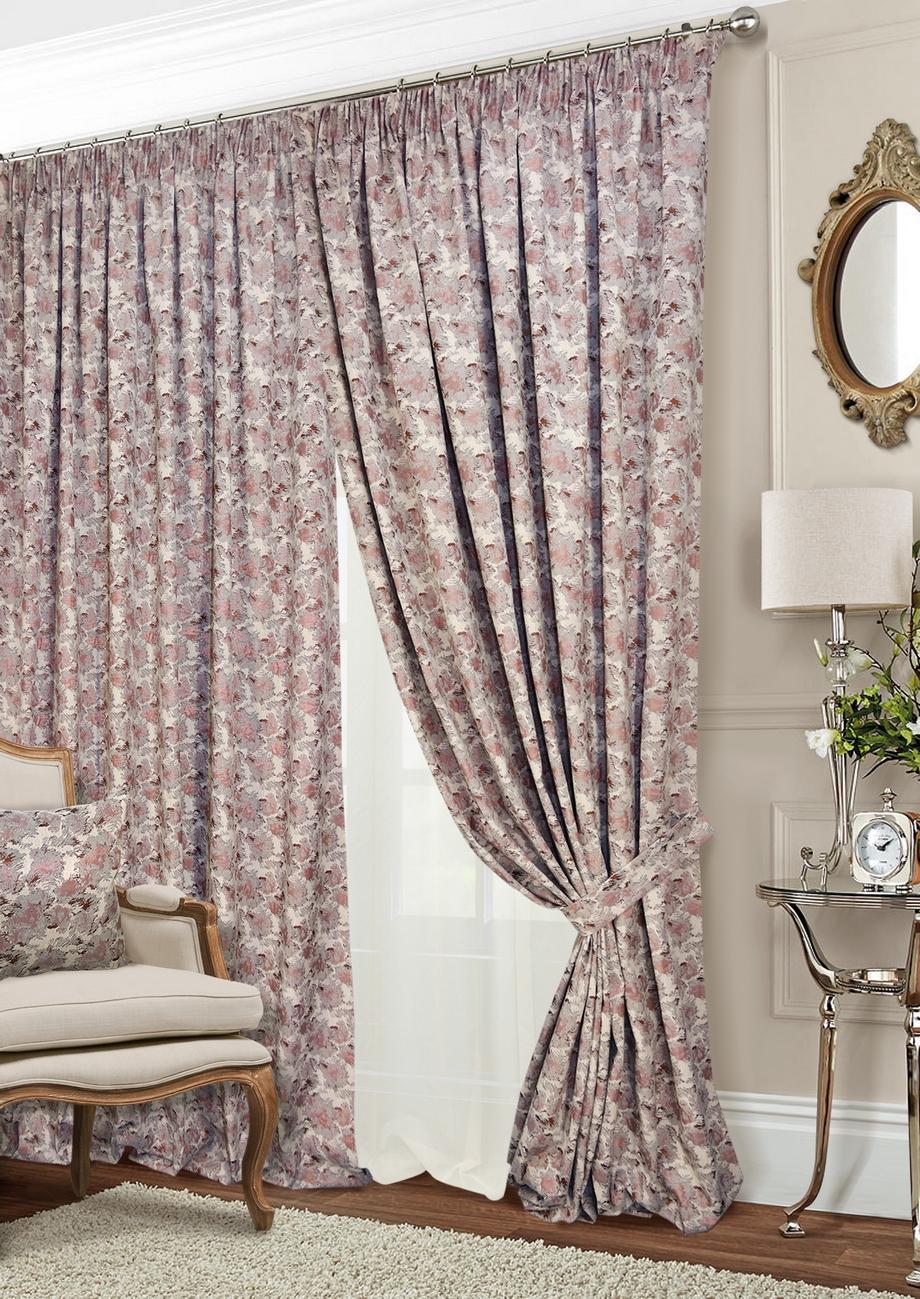 Классические шторы Shyanne Цвет: Натуральный, Терракотовый, Шампань фото