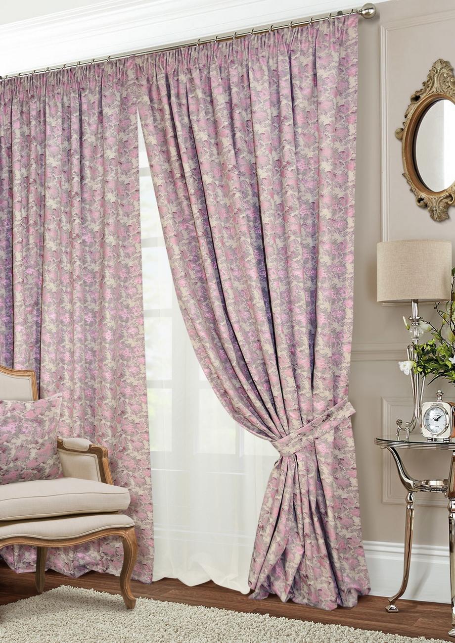 Классические шторы Shyanne Цвет: Натуральный, Сиреневый, Шампань фото