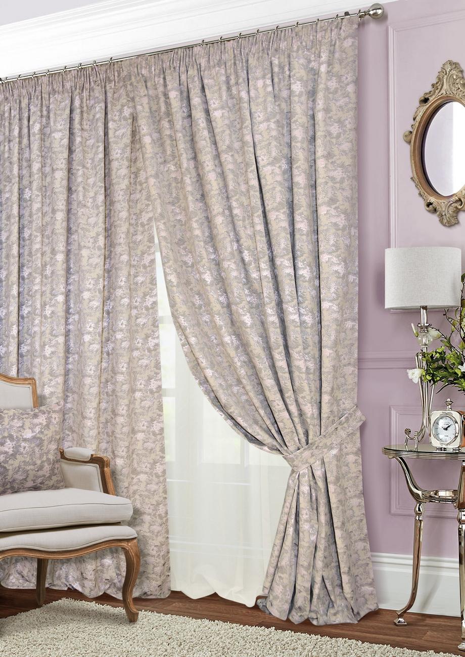 Классические шторы Shyanne Цвет: Натуральный, Нежно-Розовый, Шампань фото