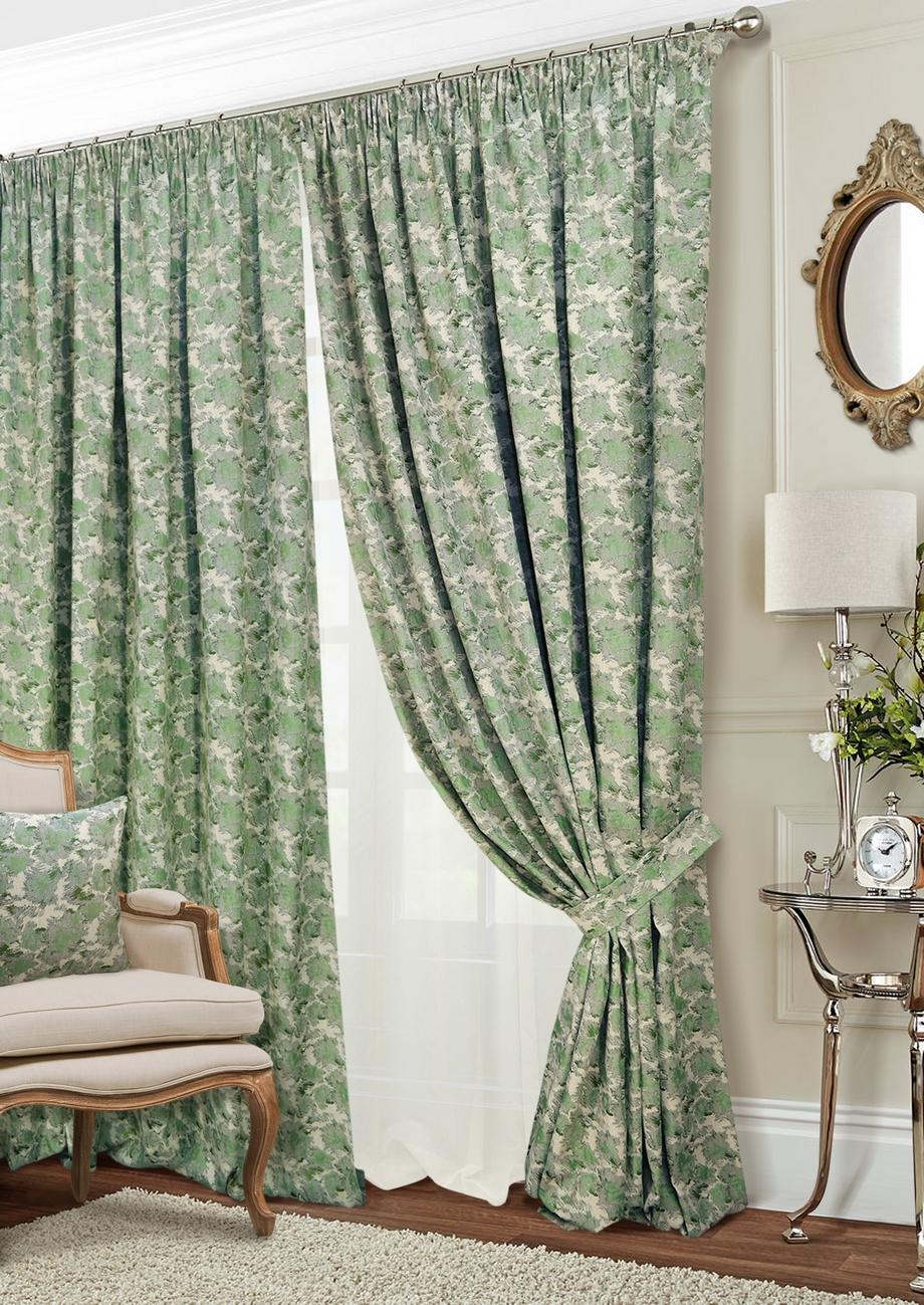 Классические шторы Shyanne Цвет: Натуральный, Зеленый, Шампань фото