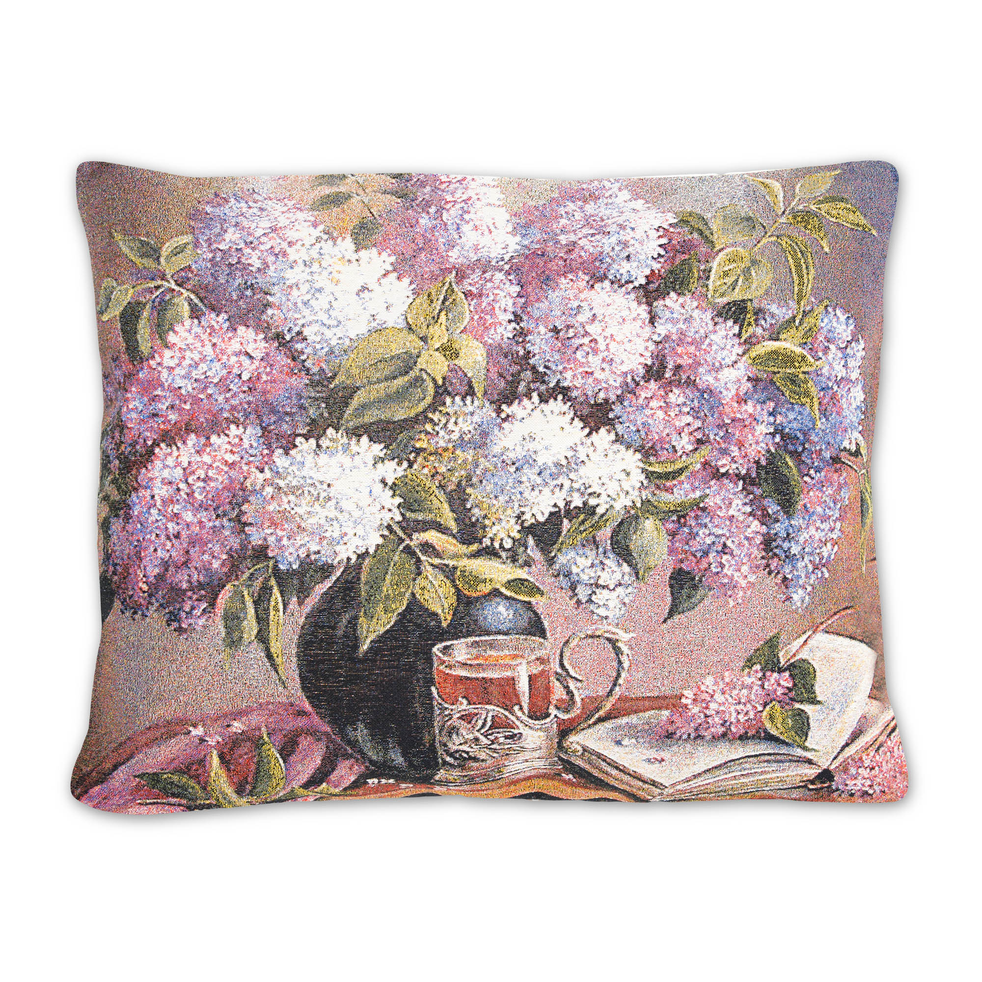 Декоративные подушки A La Gobelin Декоративная подушка Букет Сирени С Книгой (45х67) цветной картины шерстью букет сирени