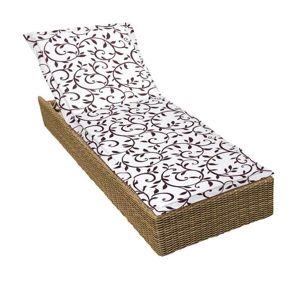 Декоративные подушки Kauffort Подушка на стул Bindweed Цвет: Бело-Коричневый (60х190)