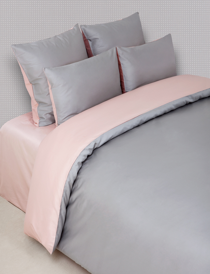Пододеяльники Luxberry Пододеяльник Duetto 6 Цвет: Серый/Розовый (200х220 см) usb 3