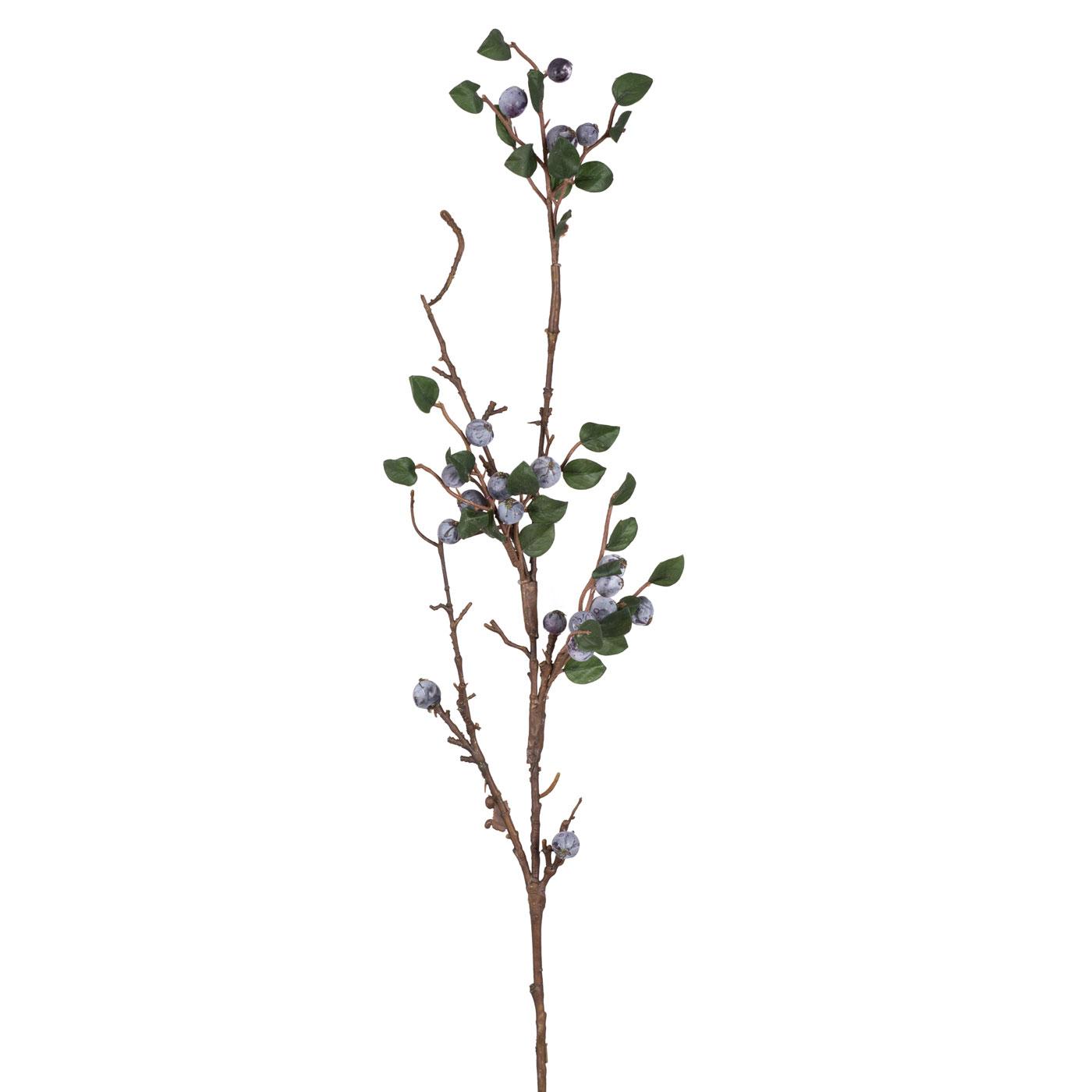 Искусственные растения Home Philosophy Искусственный цветок Ветка С Крупными Ягодами Цвет: Синий (100 см) napoleon искусственный цветок lettie 6х8х15 см