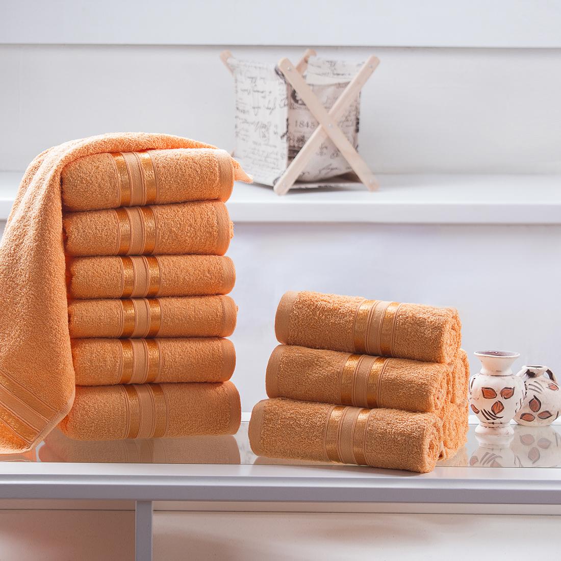 Купить Полотенца Dome, Полотенце для рук Harmonika Цвет: Оранжевый (33х50 см - 12 шт), Дания, Махра