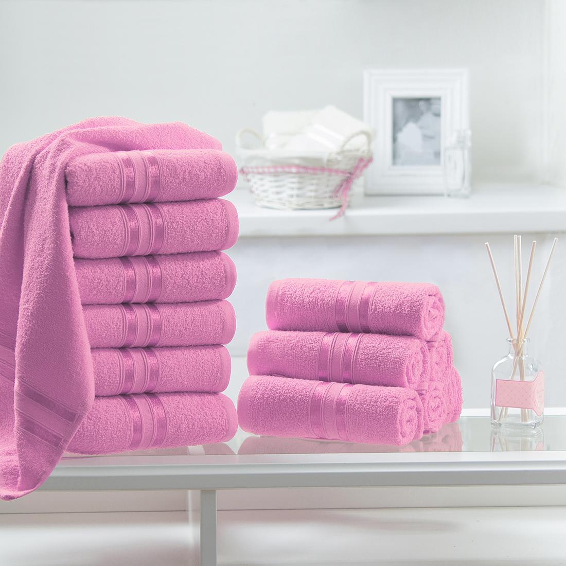 Купить Полотенца Dome, Полотенце для рук Harmonika Цвет: Розовый (33х50 см - 12 шт), Дания, Махра