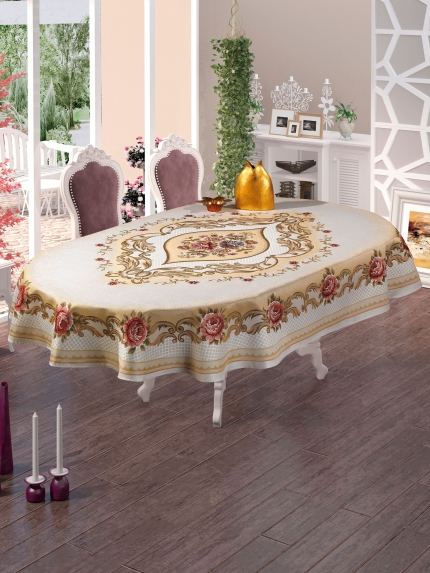 Скатерти и салфетки DO'n'CO Скатерть Domino (160х220 см) скатерти niklen скатерть 110х145см